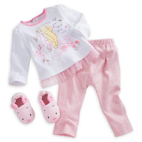 Ferkel – Set mit Pyjama und Hausschuhen für Babys
