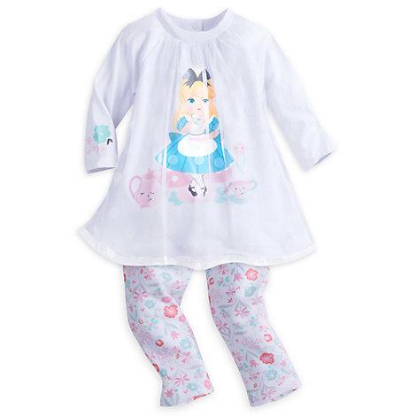 Alice in Wonderland Baby Dress and Leggings Set