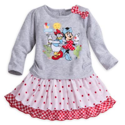 Minnie Mouse Baby Dress and Brief Set