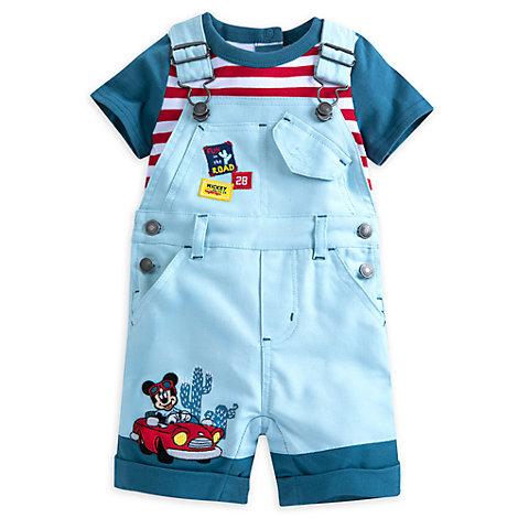 Micky Maus - Set mit Latzhose und Body für Babys