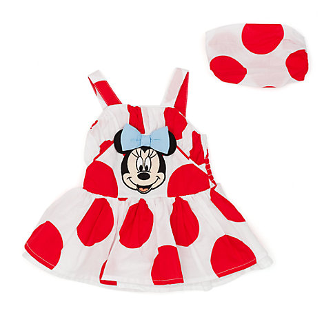 Minnie Mouse Baby Dress, Briefs and Headband Set