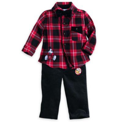 Mickey og venner sæt med bukser og skjorte til baby