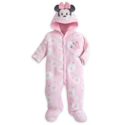 Minnie Mouse sparkedragt i fleece til baby