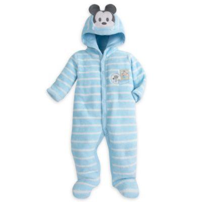 Mickey Mouse sparkedragt i fleece til baby