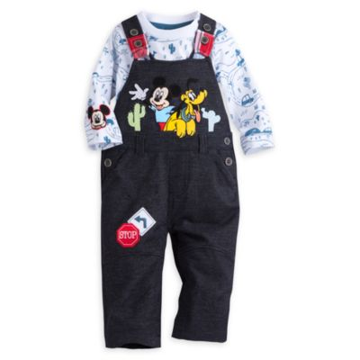 Mickey Mouse Baby Dungaree Set