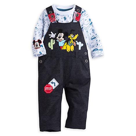 Conjunto de peto y body Mickey Mouse para bebé