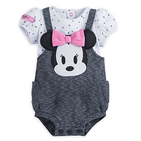 Minnie Mouse Baby Romper and Top Set