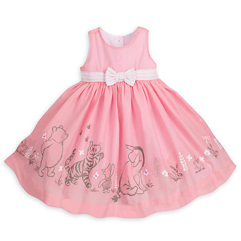 Winnie the Pooh Baby Party Dress, Cardigan and Brief Set