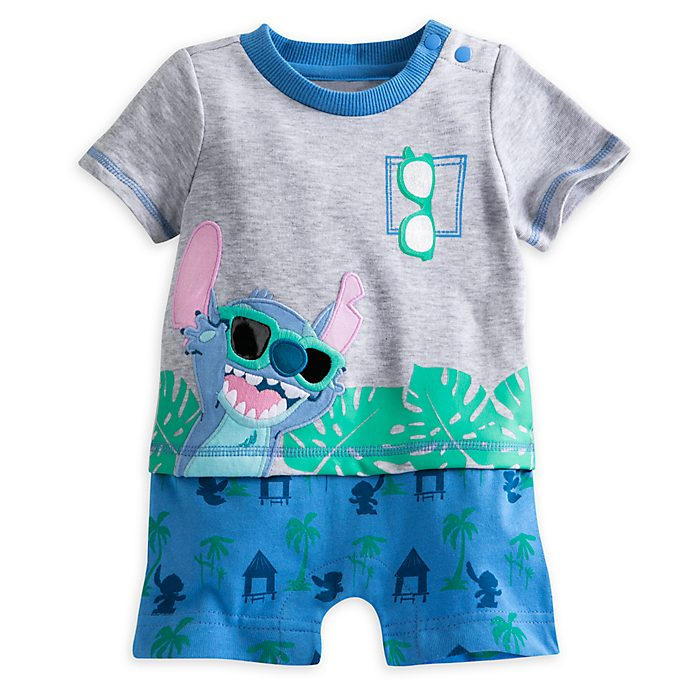 One-pieces Provided Disney Stitch Romper 0-3 Months Girls Baby & Toddler Clothing