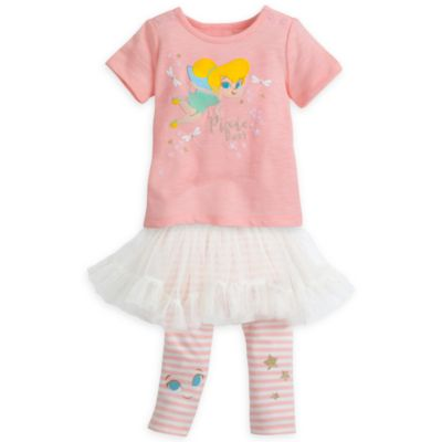 Tinker Bell Baby Top and Leggings with Tutu Set