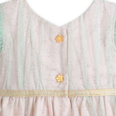 Conjunto de vestido de fiesta, cárdigan y braguitas de Campanilla
