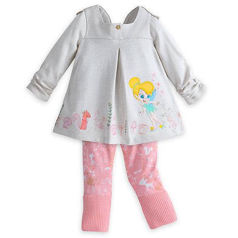 Tingeling-babyset med topp och överdragsbyxor