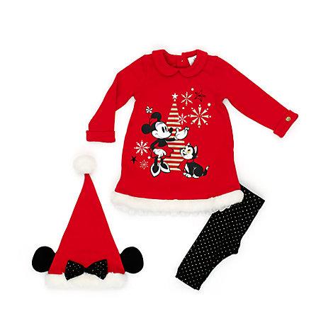 Minnie Maus - Set mit Kleid, Höschen und Mütze für Babys