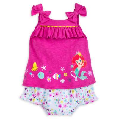 Ensemble haut et culotte La Petite Sirène pour bébés