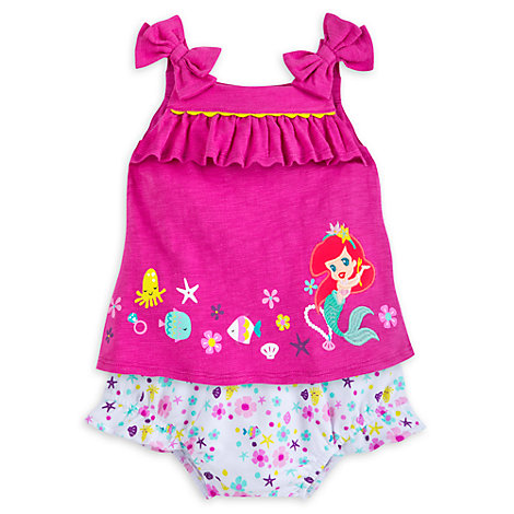 The Little Mermaid Baby Top and Bloomers Set