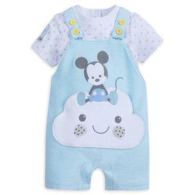 Conjunto de peto y body de Mickey Mouse para bebé