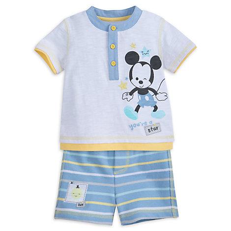 Ensemble haut et short Mickey Mouse pour bébé