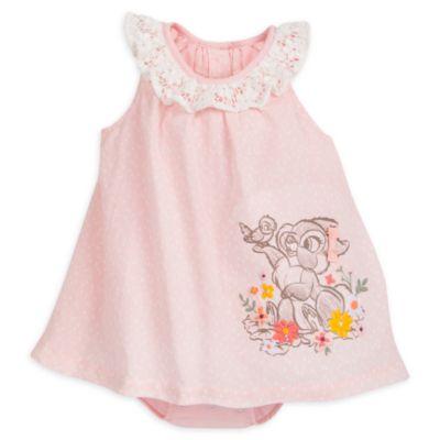 Completo vestito a pagliaccetto baby Coniglietta