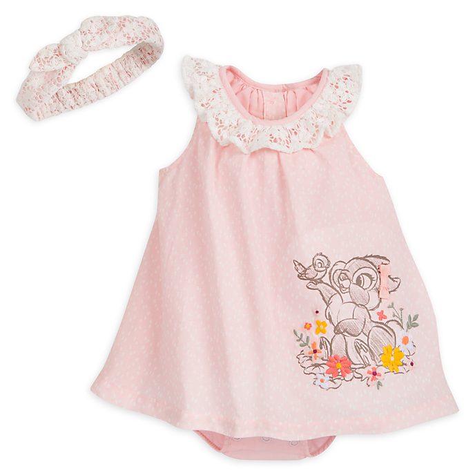 Miss Bunny Baby Romper Dress Set