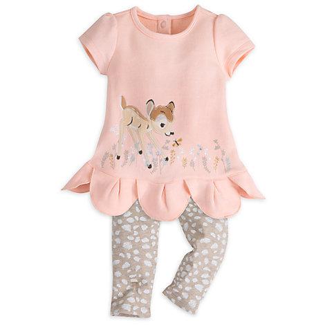 bambi babyausstattung set mit kleid und leggings f r babys. Black Bedroom Furniture Sets. Home Design Ideas
