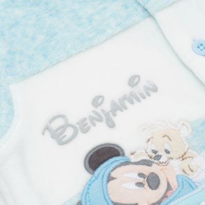 Mickey Mouse Baby Velour Sleepsuit