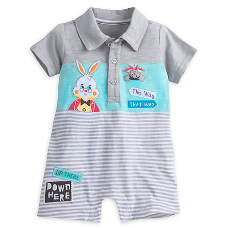 Alice In Wonderland Collared Baby Romper