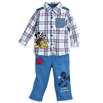 Disney Store Mickey Mouse Baby Top and Bottoms Set
