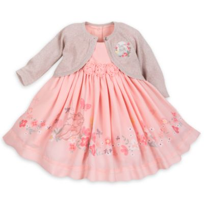 Miss Bunny Baby Dress and Cardigan Set
