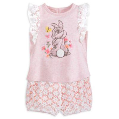 Conjunto de camiseta y pololos de Conejita para bebé