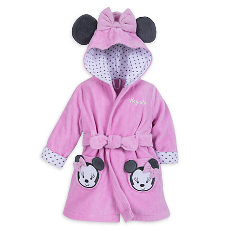 peignoir de bain minnie mouse pour b b. Black Bedroom Furniture Sets. Home Design Ideas