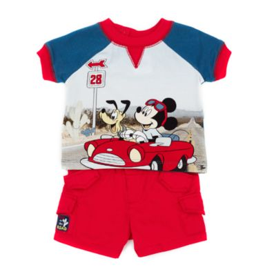 Micky Maus - Set mit Oberteil und Shorts für Babys