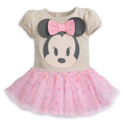 Minnie Mouse bodystocking med strutskørt til baby