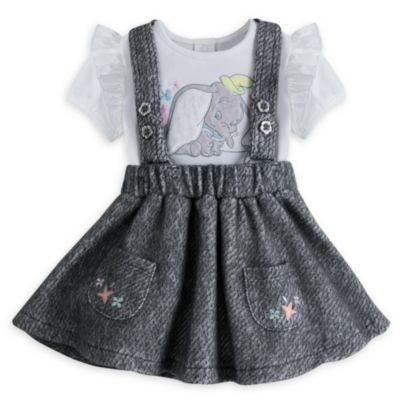 Dumbo Baby Pinafore and Body Suit Set