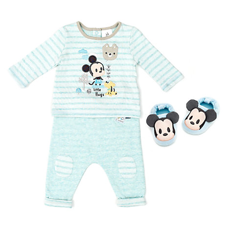 Set pigiama e pantofole baby Topolino