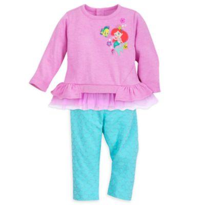 Completo maglietta e legging baby La Sirenetta