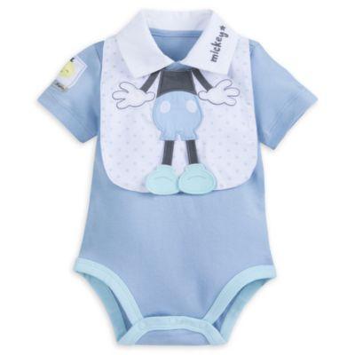 Conjunto de body y babero Mickey Mouse para bebé