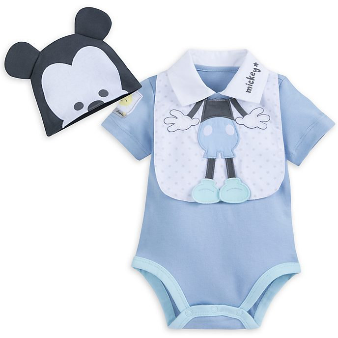 Mickey Mouse Baby Body Suit and Bib Set