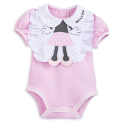 Minnie Mouse Baby Body Suit and Bib Set