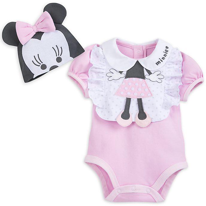 Minnie Maus - Set mit Baby Body und Lätzchen