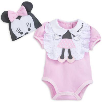 Conjunto de body y babero Minnie Mouse para bebé