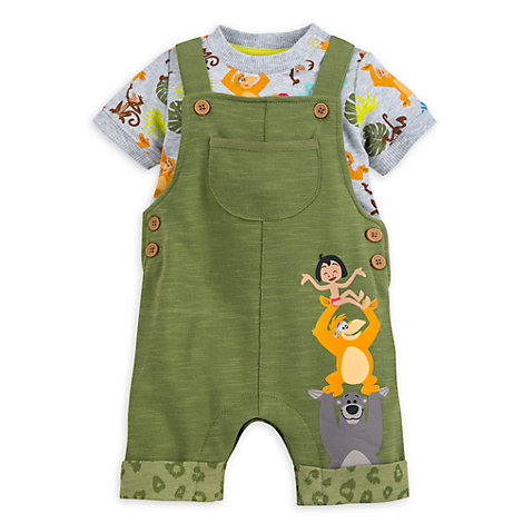 The Jungle Book Baby Dungaree and Body Suit Set