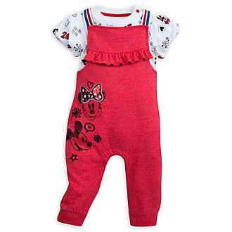 Disney Store Body et barboteuse Minnie Mouse longue pour bébé