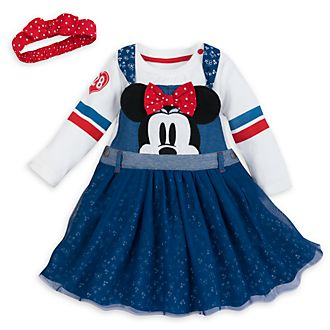 Disney Store - Minnie Maus - Set aus Babykleid und Sweatshirt