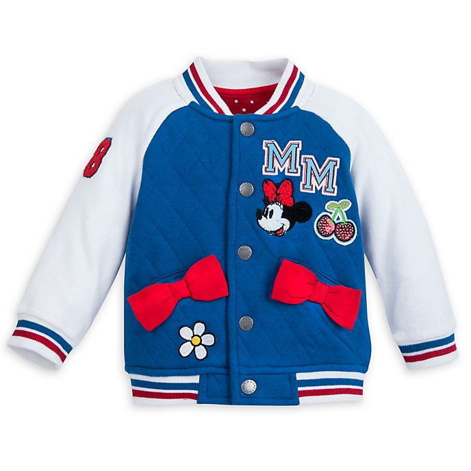 3a4af2158 Disney Store Minnie Mouse Baby Varsity Jacket