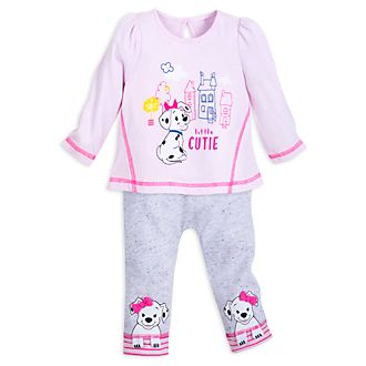 Disney Store 101 Dalmatians Pink Baby Top and Bottoms Set