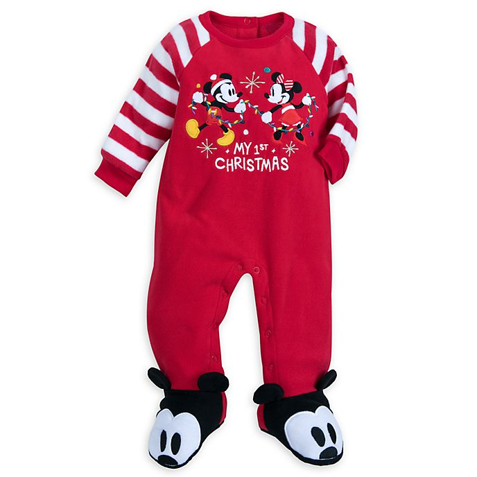 f0ac589ca1f3 Disney Store Mickey and Minnie Share the Magic Baby Blanket Body Suit