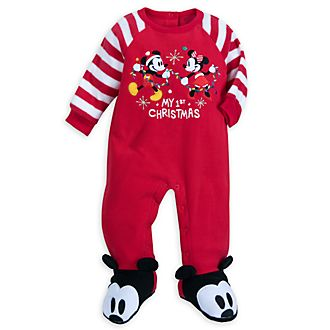 Disney Store Mickey and Minnie Share the Magic Baby Blanket Body Suit