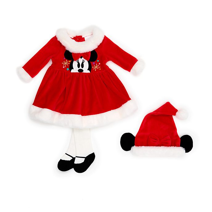 Disney Store Minnie Mouse Share the Magic Baby Dress and Tights Set