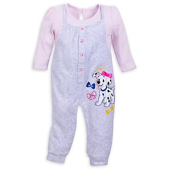 Disney Store 101 Dalmatians Pink Baby Body Suit