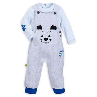 Disney Store 101 Dalmatians Baby Dungaree and Body Suit Set
